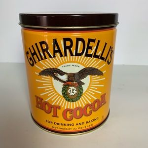 Ghirardelli's hot cocoa tin 32 ounce